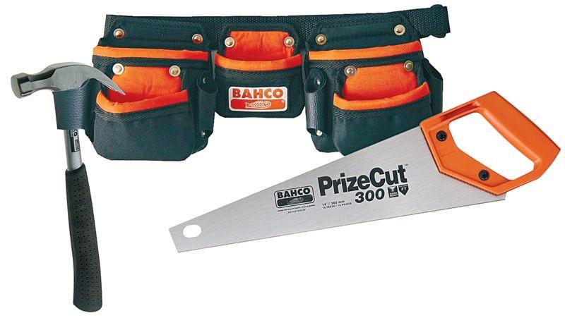 Barnesett sag+hammer+belte